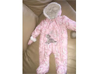 Baby girl snowsuit 6-9 month