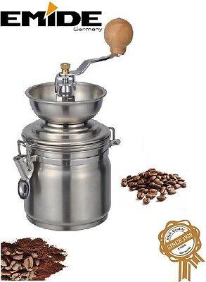 KAFFEEMÜHLE aus Edelstahl mit Keramik-Kegelmahlwerk Ø 10cm Kaffee-Mühle