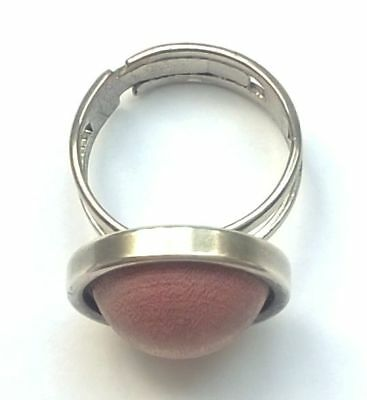 AARIKKA Finland - Beautiful Vintage Ring with Wood Center - Adjustable Size, used for sale  Finland