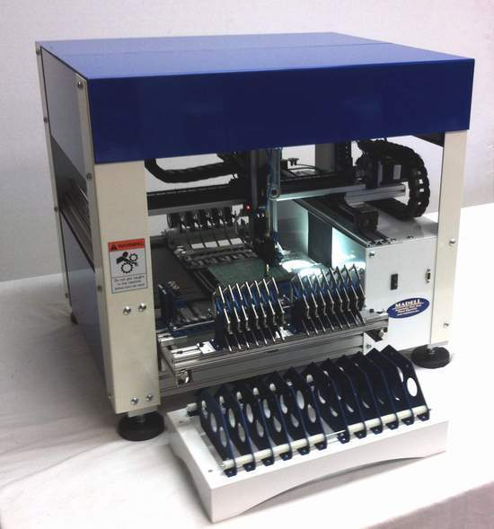 Mini Automatic Benchtop Pick and Place Machine with Vision Works to 0201, LED