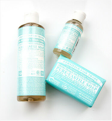 Dr. Bronners Pure Unscented  Baby Castile Soap Mixes Well with Essential (Oil Castile Soap)