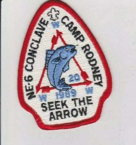 1989 OA Section NE-6 Conclave Pocket Patch hosted by Nentego Lodge 20