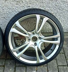 """FORD/PEUGEOT 18""""ALLOYS X 4 WITH TYRES & NUTS"""