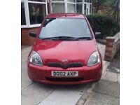 2002 Toyota Yaris 1.0 T3 only 69k Miles
