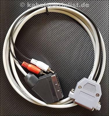 """Amiga RGB SCART TV  Kabel """"geschirmt"""" (shielded)! 2,0 Meter"""
