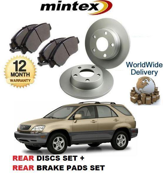 FOR LEXUS RX300 3.0 2000-03 New MINTEX REAR BRAKE DISCS SET AND MINTEX PADS KIT