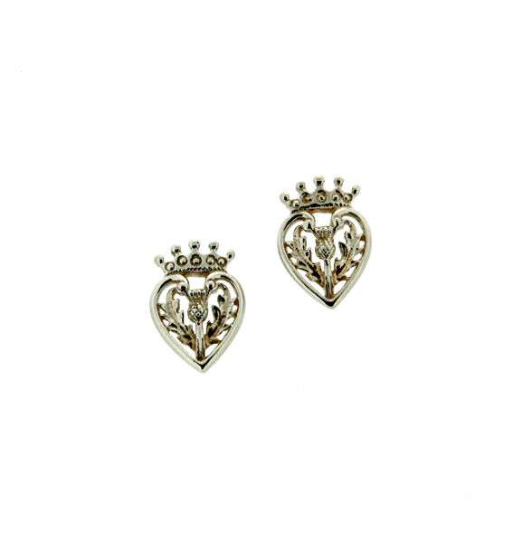 Sterling Silver Scottish Luckenbooth EARRINGS with Thistle Keith Jack
