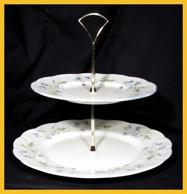 Queens Women & Home Harebell 2 Tier Cake Plate