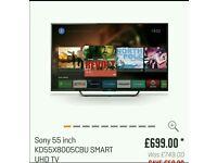 """Sony 55"""" 4K Smart Tv"""