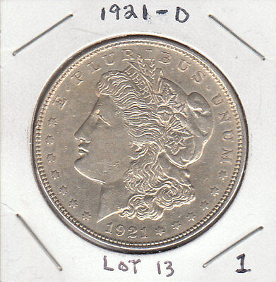 1921 D MORGAN SILVER DOLLAR. 90% SILVER. BEAUTIFUL CONDITION. SEE PHOTOS