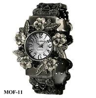 MOF-11  Montre Fleurs Alliage Métal Quartz Bracelet ressort GGG