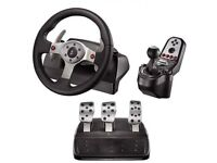Logitech G25 with pedals and shifter