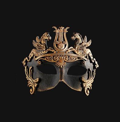 Mask from Venice Colombine Barocco Cavalli Bronze Authentic Paper Mache 198
