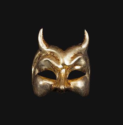 Mask from Venice Devil Diavolo Golden Authentic Paper Mash Venetian 365