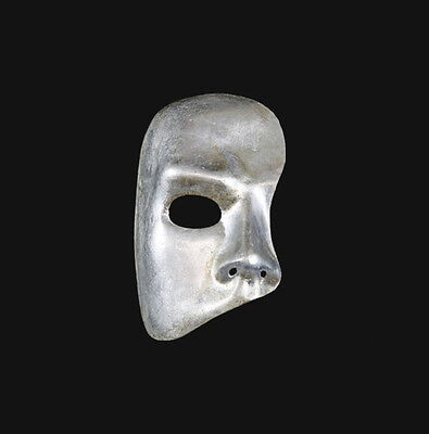 Mask from Venice Ghost of L'Opera Silver Authentic Paper Mache 269