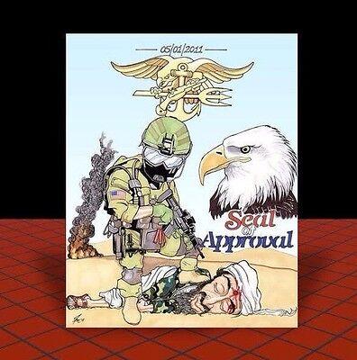 New U.S. NAVY SEALS vs Osama bin Laden ART, seal team 6 in helmet & goggles six
