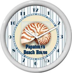 Nautical Sea Shell  House Wall Clock Beach House Decor Gift