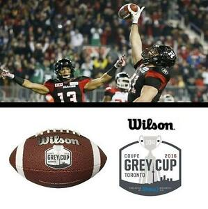 NEW WILSON CFL GREY CUP FOOTBALL - 122175002 - 2016 TORONTO ENGRAVED  104 OFFICIALLY LICENSED GAME BALL