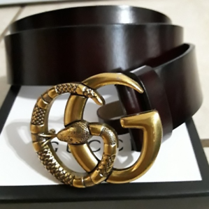 bdbe11538 Gucci belt black leather with gold snake GG buckle   Accessories ...