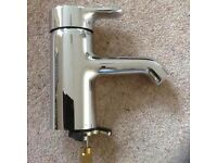 Wash basin mono chrome mixer tap Jasper Morrison single lever.