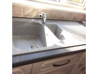 SCHOCK grey granite kitchen sink with monotap