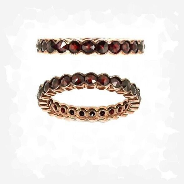 Original Bohemian waved garnets eternity ring size 7 3/4 ГРАНАТ 845KOL