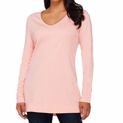 Liz Claiborne New York Essentials Size 1X Pink Long Sleeve V