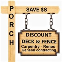 DISCOUNT AND FENCE SAVE $S ON BOTH * FULLY INCLUSIVE PRICE*