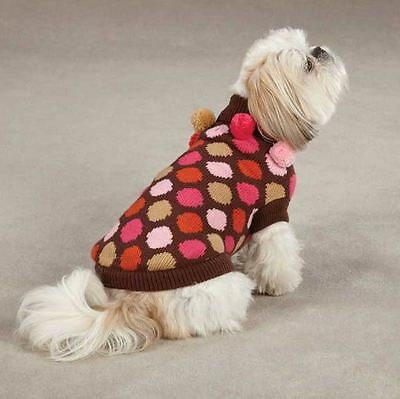 East Side Collection Spirit Polka Dot  Pet Dog Knit Sweater XS S S/M M L XL  Top East Side Collection Polka Dot