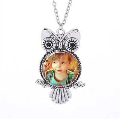 Personalized Photo OWL Pendants Custom Necklace Loved One Gift for Family Member - Owl Photo