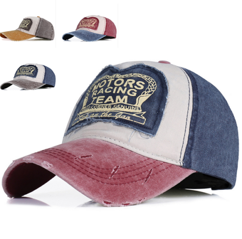 Herren Damen Denim Vintage Trucker Cap Snapback Baseball Mütze Kappe BaseCap HH