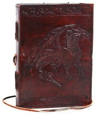 CELTIC DRAGON Blank Page BOOK Handcrafted Leather Writing Unlined JOURNAL
