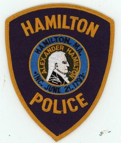 HAMILTON POLICE MASSACHUSETTS MA NEW PATCH SHERIFF