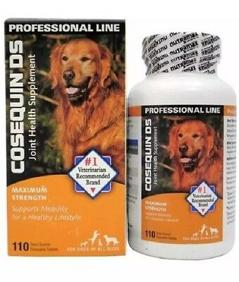 Cosequin DS Joint Supplement for Dogs Maximum Strength 110 Chews-FRESH! E 8/2021