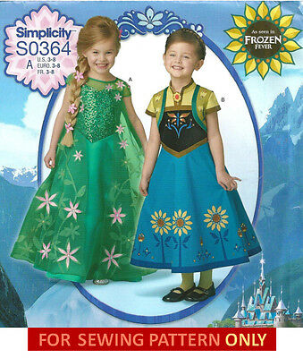 SEWING PATTERN! MAKE ANNA~ELSA FROZEN FEVER COSTUMES! DISNEY PRINCESS DRESSES! (Make Anna Costume)