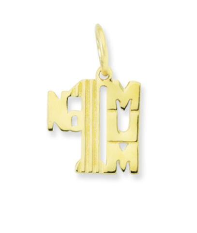 "New 9ct Yellow Gold /""No1 Mum/"" Pendant Charm"