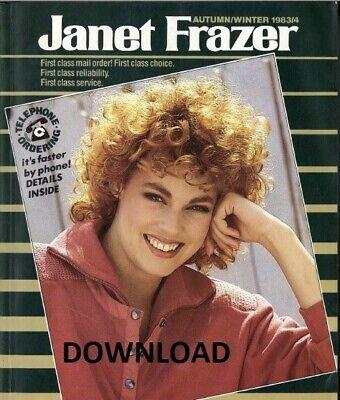 1983-1984 Janet Frazer Mail Order Catalogue, Autumn/Winter, Vintage,PDF DOWNLOAD