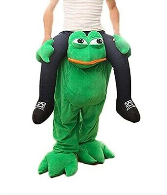 Halloween Carry Ride On Me Frog Mascot Costume Animals Party Fancy Dress Adults