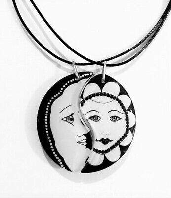 Sun and Moon Friendship Yin Yang Necklaces,Best Friends,BFF,Anniversary - Sun And Moon Friendship Necklace