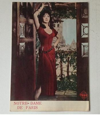 NOTRE-DAME DE PARIS Gina Lollobrigida Japan Movie Theater Program rare