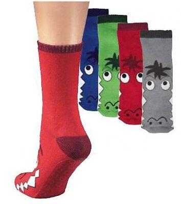 "Kinder ABS Socken Sockenschuhe Vollgummi-Antirutsch-Sohle ""Krokodil""Gr.19 bis 38"