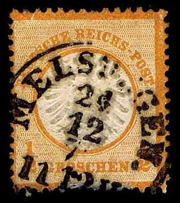 1872 GERMANY 3 EAGLE WITH SMALL SHIELD - USED - VF - CV$18.75 ESP8946