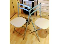 Fordable Dining or kitchen chairs - 2
