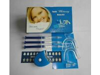 Teeth Whitening Home Kit Dental Gel Strong Laser Tooth Whitener Bleaching LED