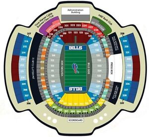 Buffalo Bills Tickets.  30 Yard line lower bowl