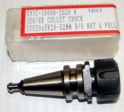 Techniks Iso 20 Er 20 40k Rpm Balanced Collet Chuck Wpull Stud-cnc Routers