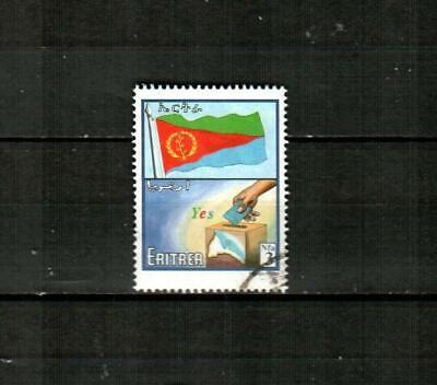 ERITREA Scott's 346 ( 1v ) Flag and Ballot Box F/VF Used ( 2000 )