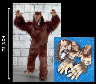 Halloween Professional Costumes (PLUSH WEREWOLF ADULT COSTUME halloween suit wolf scary wolves pro dressup)