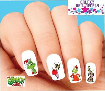 Waterslide Nail Decals - Set of 20 How the Grinch Stole Christmas Assorted](Christmas Nail Decals)