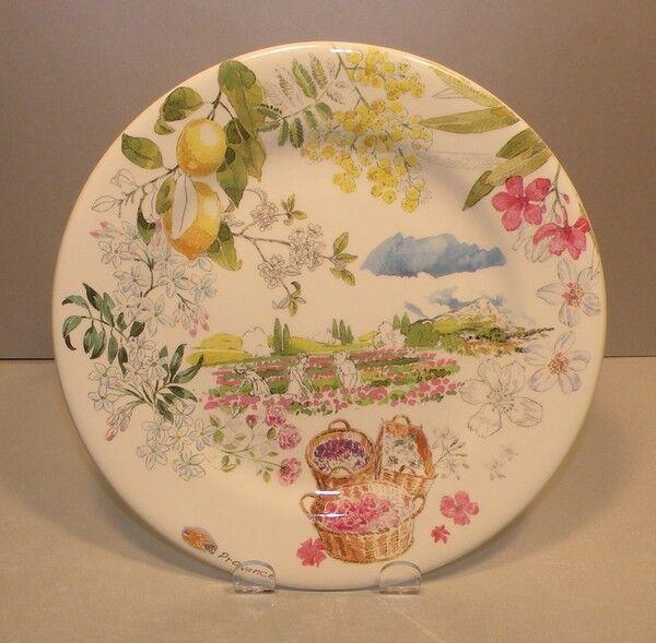 NEW Dessert Plate Senteurs , Provence From GIEN